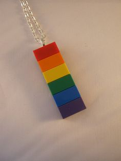 Rainbow Pride Pendant made from Lego bricks by MooseintheMint