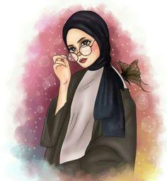 Don't judge a book by it's cover Girly M, Cute Girl Wallpaper, Cartoon Wallpaper, Cartoon Kunst, Cartoon Art, Sarra Art, Hijab Drawing, Islamic Cartoon, Anime Muslim