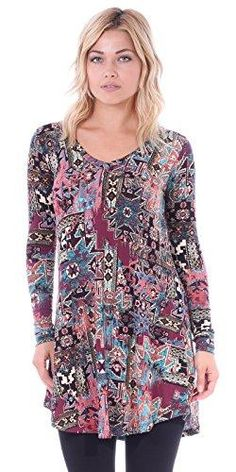7dcaea51a39 Tunic tops for women to wear with leggings in plus size and regular sizes -