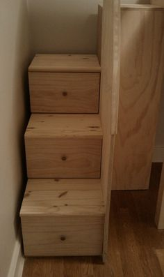 staircases with drawers loft | Loft Bed With Stairs | Woodworking Project Plans