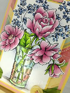 Just4FunCrafts and DoveArt Studios: Flower Vase with Reflection - NEW Release Peek!