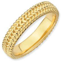 Youthful Sense Silver Stackable Gold Band. Sizes 5-10 Available Jewelry Pot. $34.99. 30 Day Money Back Guarantee. Fabulous Promotions and Discounts!. All Genuine Diamonds, Gemstones, Materials, and Precious Metals. 100% Satisfaction Guarantee. Questions? Call 866-923-4446. Your item will be shipped the same or next weekday!