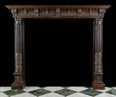 Antique Renaissance Oak Fireplace Mantel