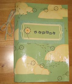 Summer journal, strengthened with the power of modge podge. Summer Journal, Crafting, Crafts To Make, Crafts, Handarbeit, Girl Scout Crafts, Artesanato, Craft