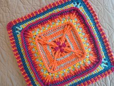 """Bringing In The Sheaves 9"""" And 12"""" Afghan Block Square Motif By Margaret MacInnis - Free Crochet Pattern - (ravelry)"""