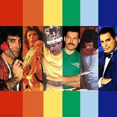 HAPPY PRIDE MONTH from FREDDIE MERCURY!  🌈🌈🙂🙂 Rami Malek Freddie Mercury, Queen Freddie Mercury, Brian May, Freddie Reign, Freedie Mercury, Queen Meme, Queens Wallpaper, We Are The Champions, Roger Taylor