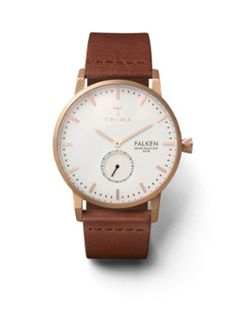 Triwa Rose Falken Unisex Watch with Brown Classic Leather Band – Christy s  Jewelry Gallery 84a1b23231b
