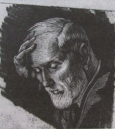 Gwen Raverat wood engraving Georges Raverat c.1912