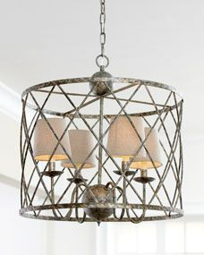 Open Weave Chandelier over breakfast table