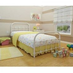 Antique Twin Bed White Metal Frame Bedroom Furniture Victorian Steel Cast Iron in Home & Garden, Furniture, Beds & Mattresses | eBay