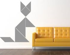 Tangram animal wall decals display them how you want par @stickerzlab, €20,00