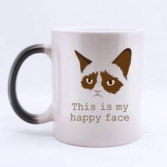 Original Lovely Cat Morphing Nice Ceramic Mug * Find out more details by clicking the image : Cat mug