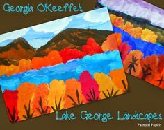 Art Projects for Kids | Art Lesson Plans | Crafts for Kids | Georgia O'Keeffe Art Lessons | Painted Paper Art