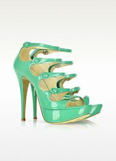 Loriblu Green Patent Leather Sandal