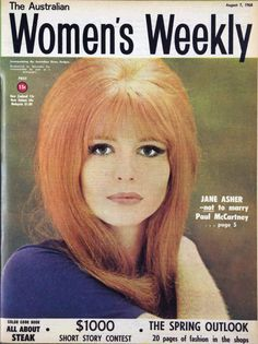 Jane Asher on the cover of The Australian Women's Weekly, 1968