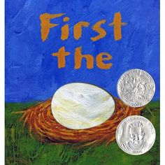 """First the Egg (09781596432727) WHICH CAME FIRST? The chicken or the egg? Simple die-cuts magically present transformation-- from seed to flower, tadpole to frog, caterpillar to butterfly. The acclaimed author of """"Black? White Day? Night """"and"""" Lemons Are Not Red"""" gives an entirely fresh and memorable presentation to the concepts of transformation and creatiity. Seed becomes flower, paint becomes picture, word becomes story--and the commonplace becomes extraordinary as children look through…"""