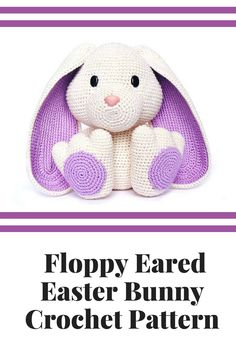 This floppy eared easter bunny would be so fun to display for easter! I bet my mom could crochet some in different colors. #ad #easter #crochet #printable #etsy #celebratetheeveryday