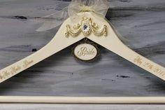 Bride Hanger Wedding Dress Hanger Cream Personalized Hanger