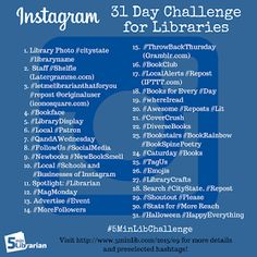 5 Minute Librarian: 31 Days of Instagram Challenge