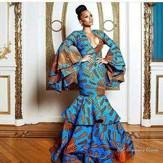 Long Ankara Gowns Styles 2018 from Diyanu - Ankara Dresses, Shirts & African Attire, African Wear, African Women, African Dress, Ankara Long Gown Styles, Ankara Gowns, Ankara Dress, Ankara Styles, Maxi Gowns