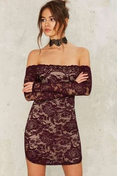 Barely There Lace Dress