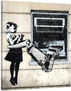 Jaxson Rea ATM with Robot Arm by Banksy (Giclee Canvas)