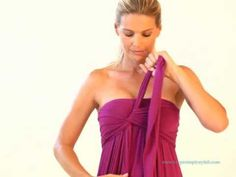 How to wear your Chameleon Dress - a side-tie Infinity dress