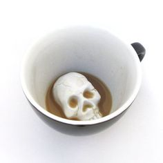 Skull bottom mug #ceramic #art #kitchen #skull