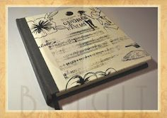 "Handmade book / bookbinding - (Book ""Lux University (3)"")  - Handbound book - Handbound Journal"