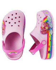 f2fe370e0 Toddler Girl Crocs CrocsLights Rainbow Clog