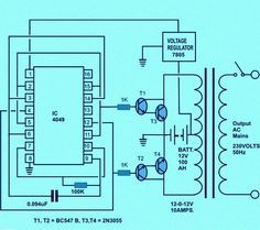 Electronic circuit projects how to make a solar inverter circuit circuit diagram of solar inverter for home asfbconference2016 Image collections
