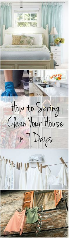 How to Spring Clean Your House in 7 Days (1) #bathroomcleaningtips