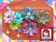Como Hacer Flor Doble Color Listón,How to Make Flower Double Color Ribbon Easy Fabric Flowers, Yarn Flowers, Satin Ribbon Flowers, Kanzashi Flowers, Fabric Ribbon, Diy Flowers, Kanzashi Tutorial, Tutorial Diy, Ribbon Flower Tutorial