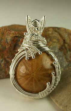 images of wire woven jewelry | Wire Woven Fine Silver Pendant with Seabiscuit ... | Jewelry - neckla ...