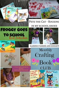 Monthly Crafting Book Club for Aug - School Books - It's time for back to school! This Monthly Crafting Book for August is focusing on Back to School books with crafts to make reading more fun with your kids!
