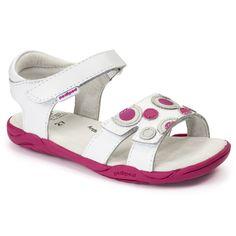 Flex® Жаклин Белый / фуксия   pediped обувь   удобная обувь для детей   младенческой ребенка малыша молодежные ботинки