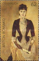 [Modern Art in Austria - Portrait of Isabella Reisser by Anton Romako, 1832-1889, type DFC]