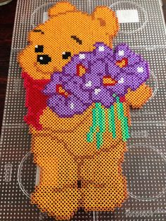 Winnie the Pooh hama perler beads by Dorte Marker Hama Disney, Perler Beads, Pearler Bead Patterns, Perler Patterns, Art Perle, Beaded Banners, Fusion Beads, Iron Beads, Melting Beads