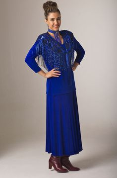 789a2f5c87c Formal Western Royal Blue Ourfit Vintage Western Wear