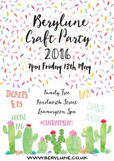 It's on! https://www.eventbrite.co.uk/e/berylune-craft-party-2016-tickets-24720736388