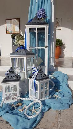 Στολισμός_γάμου_γαλάζιο_ορτανσια_φαναράκια_ναυτικό_στυλ