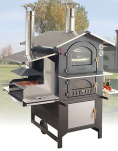 Woodburning Oven & Barbecue Combi