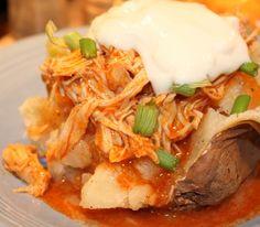 Buffalo Chicken, easy crock pot dinner, very yummy!