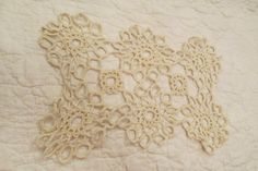 Vintage Doily Off White hand crocheted by rarefinds4u on Etsy