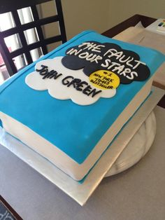 The fault in our stars book cake