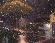 pinturas ultrarrealistas de chuva