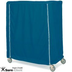 """Metro 18 x 60 x 62"""" Blue Coated Vinyl Cart Cover w/ Zipper by Metro. $167.40. Width: 18"""". Weight: 5.5 lbs.. Height: 62"""". For 18"""" Deep Shelf Trucks and Carts. Length: 60"""". Metro 18 x 60 x 62"""" Blue Coated Vinyl Cart Cover w/ ZipperThis Metro cart cover is made of coated blue nylon and has a zipper closure. It fits 18"""" deep carts and shelf trucks.Width: 18"""" Length: 60"""" Height: 62"""" Weight: 5.5 lbs. For 18"""" Deep Shelf Trucks and Carts Coated Nylon Color: Blue Zipper Clos..."""