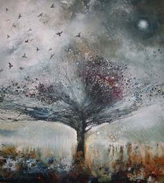 iamjapanese:    Stewart Edmondson(British)  The Return of the Fieldfare    2010  Acrylic on Paper