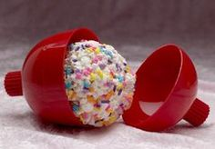"""Confetti"" Balls: add candy or cereal to popcorn balls"