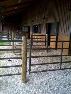 horse stalls with runs ideas Dream Stables, Dream Barn, Horse Stables, Horse Farms, Rinder Stall, Paddock Trail, Barn Stalls, Horse Barn Plans, Horse Shelter
